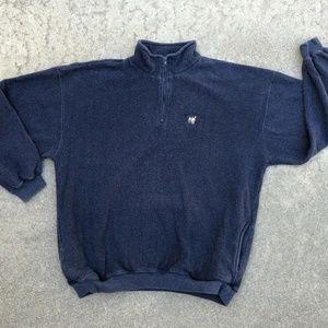 BIG DOGS Men's VTG 1/4 Zip Fuzzy Sweatshirt Sz XL